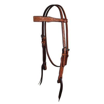 Cactus Saddlery Floral Tooled Browband Headstall