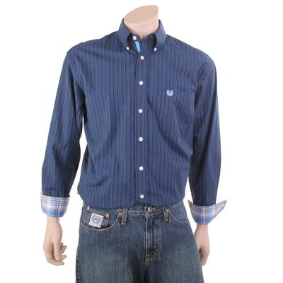 Panhandle Men's Navy Button Down Shirt