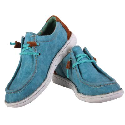 Justin Women's Turquoise Hazer Lace Up Shoes