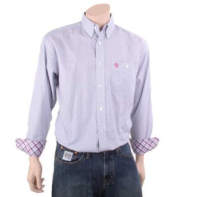 Wrangler Men's George Strait Magenta Single Pocket Shirt