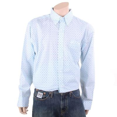 Wrangler Men's Blue Button Down Classic shirt