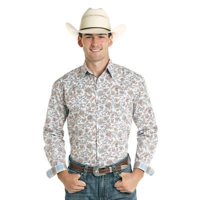 Panhandle Men's White Roughstock Snap Shirt