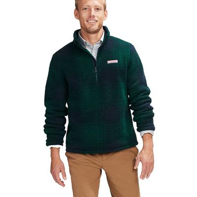 Vineyard Vines Blackwatch Stillwater Sherpa Pullover Jacket