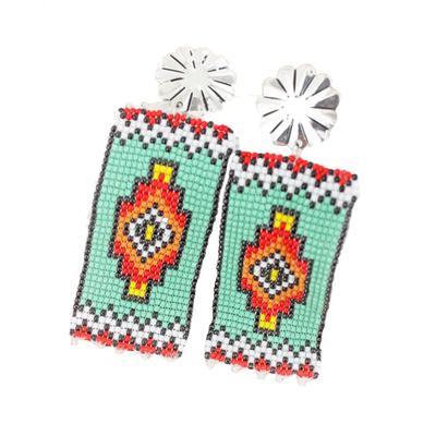 Concho & Sun Canyon Beaded Banner Earrings