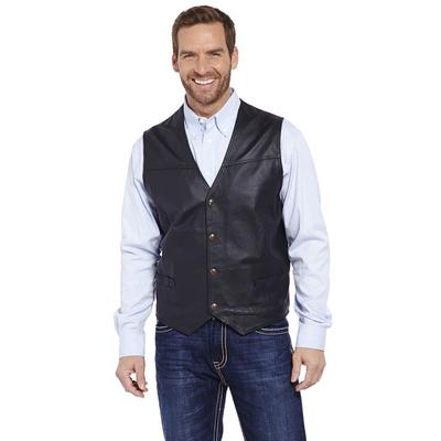Cripple Creek Men's Snap Front Leather Vest