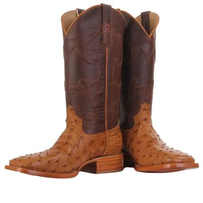 R. Watson Men's Full Quill Ostrich Western Boots