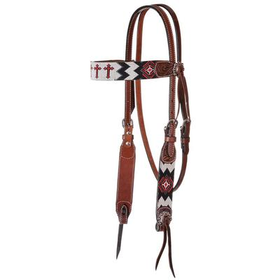 Circle Y Cross Infinity Bead Headstall