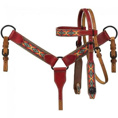 Set of Miniature Printed Brow Headstall & Breastcollar