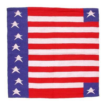 Tough-1 Patriotic American Flag Western Saddle Blanket
