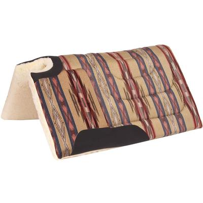 Mustang Navajo Cutback Built-up Saddle Pad In Brown