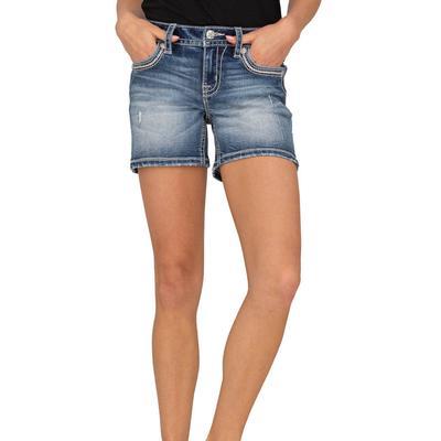 Miss Me Women's Mid Rise Sidekick Shorts