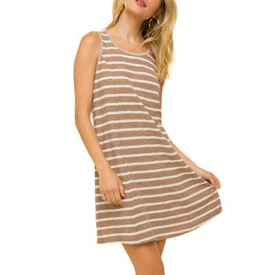Women's Skater Striped Mix Dress