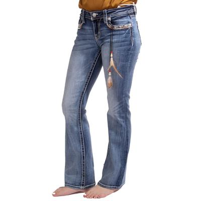 Miss Me Women's Leaning On Love Bootcut Jeans