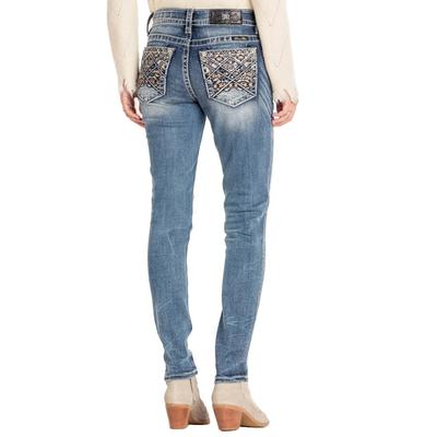 Miss Me Women's Native Embroidered Skinny Jeans