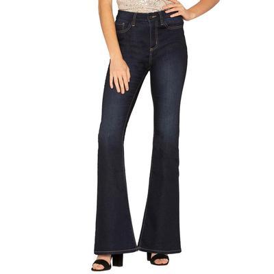 Miss Me Women's Long Love Flare Jeans