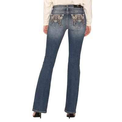 Miss Me Women's Tribal Style Bootcut Jeans