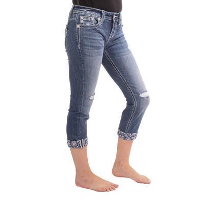 Miss Me Women's Mid Rise Capri Shorts