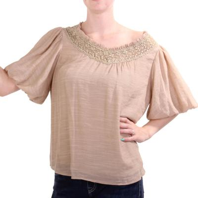 Kori Women's Ballon Sleeved Top