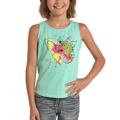 Panhandle Girl's Paint Piggy Tank Top