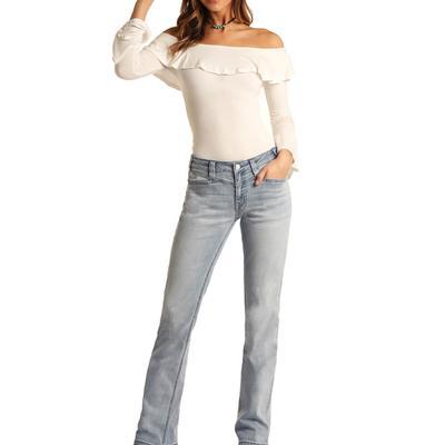 Panhandle Women's Light Wash Bootcut Jeans