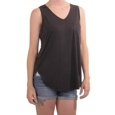 Women's Black V-Neck Tank Top