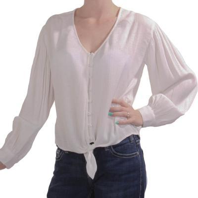 Kori Women's White Button Down Top