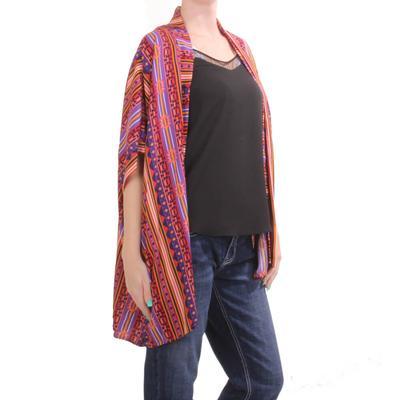 Panhandle Women's Multicolored Western Kimono
