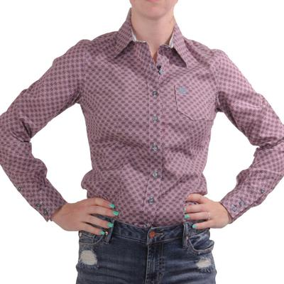 Cinch Women's Purple Button Down Shirt