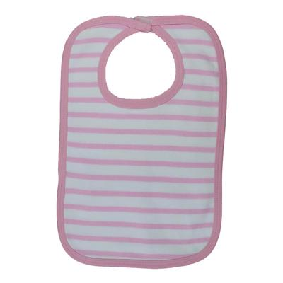 Infant Pink and White Striped Bib