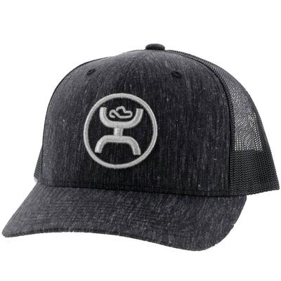 Hooey Silver Logo Black Cap