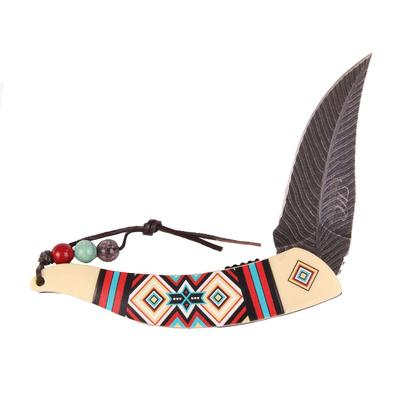 5 Inch Folding Feather Knife IV