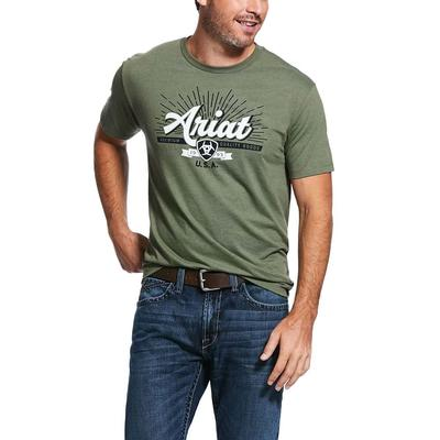 Ariat Men's Quality Forest Green Tee
