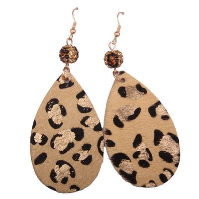 Cowhide Skull Silhouette Earrings