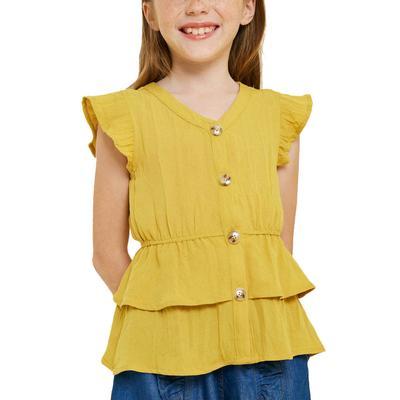 Hayden Girl's Tiered Ruffle Hem Top