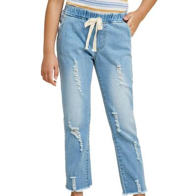 Hayden Girl's Distressed Drawstring Jeans