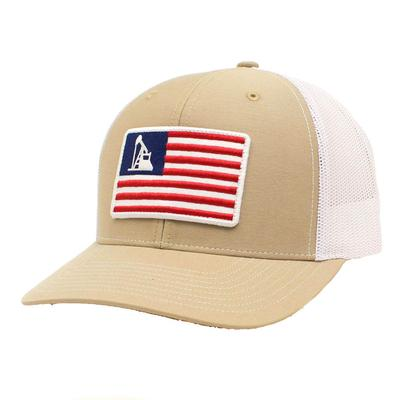 M&F Western Ariat Men's Oil Rig USA Flag Cap
