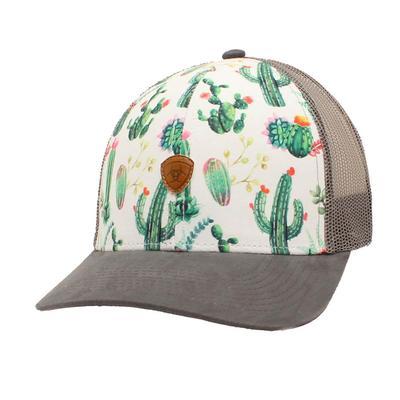 M&F Western Ariat Women's White Cactus Cap