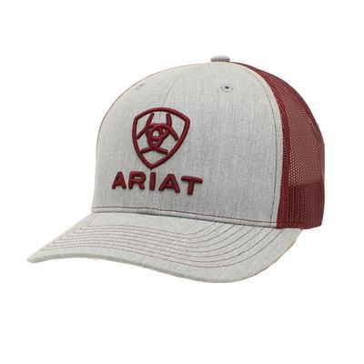 M&F Western Ariat Men's Maroon Shield Logo Cap