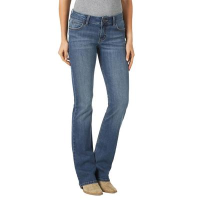 Wrangler Women's Medium Wash Mid Rise Boot Cut Jeans