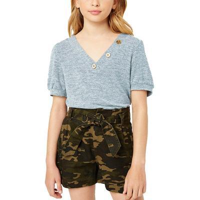 Hayden Girl's Knit V-Neck Top