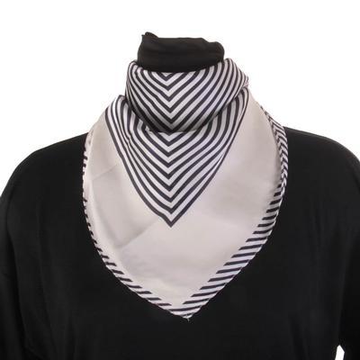 Bosuk Corp. Striped Silk Scarf