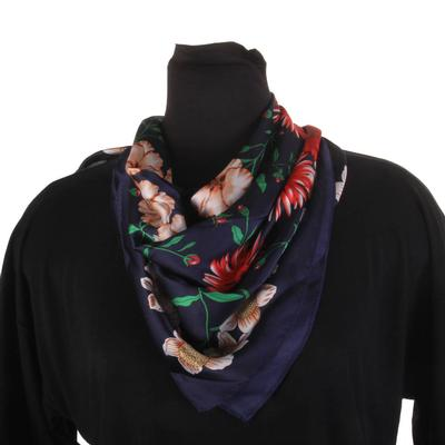 Bosuk Corp. Floral Silk Scarf