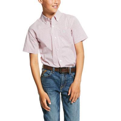 Ariat Boy's Short Sleeve Button Down Shirt