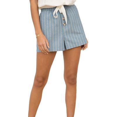 Women's Linen Stripped Shorts