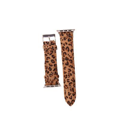 Leopard Print Fur Apple Watch Band