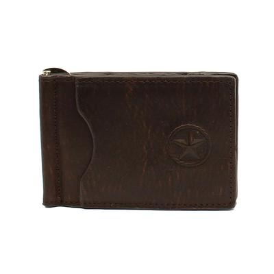 Bifold Black Leather Money Clip