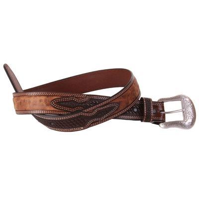 Men's Tooled Antique Leather Belt
