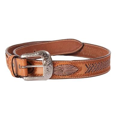 Men's Rawhide Woven Leather Belt