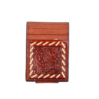 Magnetic Tooled Money Clip