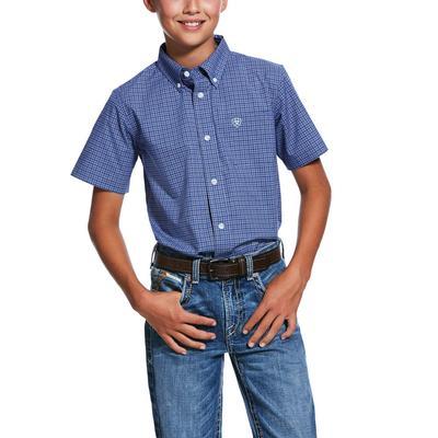 Ariat Boy's Blue Button Down Shirt